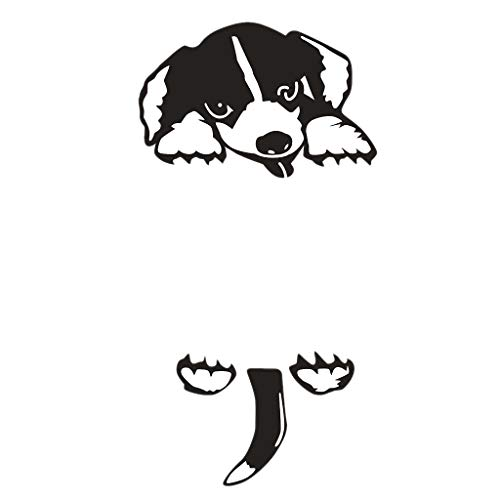 gazechimp Pegatinas de Pared Extraíbles Autoadhesivas de Perro Negro de 5 Piezas