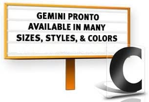 10 Gemini Pronto ADM Standard 20 Piece Punctuation Set Black