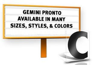 8' Gemini Pronto ADM Standard 100 Piece Filler Set Black Letters/Black Numbers