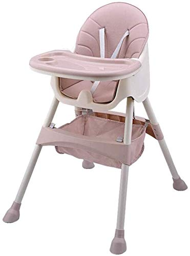 ZHANG Baby Dining Chair Baby High Chair Simple Fold High Chair Sets Up in Seconds Easy to Clean and Pack Away,Pink