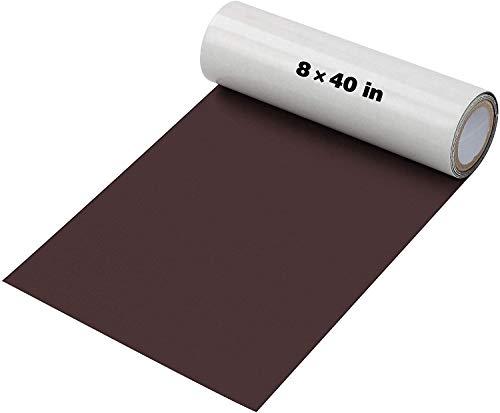 Baffsan Lederreparatur-Patch-Kits für Autositze, Sofas und Selbstklebender Ellbogen-Patch für Leder-und Vinylreparaturen,8 x 40-Zoll-Ledersofa-Reparatursätze-braun