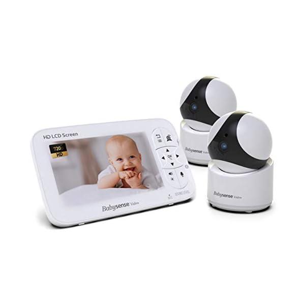 """Babysense Baby Monitor – 720P 5"""" HD Display, Video Baby Monitor with Camera..."""