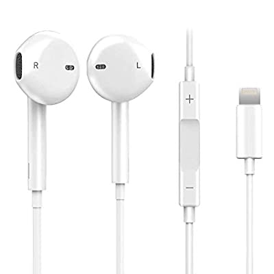 Headphones/In-Ear Earphones with Built-in Microphone & Volume Control, Wired Earbuds Bluetooth Function Connector for iPhone 7/7 Plus/8/8 Plus/X 11/XS Max/XR for All IOS systems from Hooman