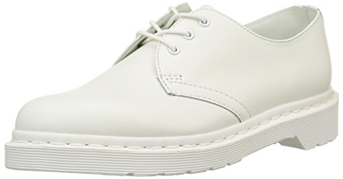 Dr. Martens Women's 1461 Mono 3 Eye Shoe, White, 6 Medium US