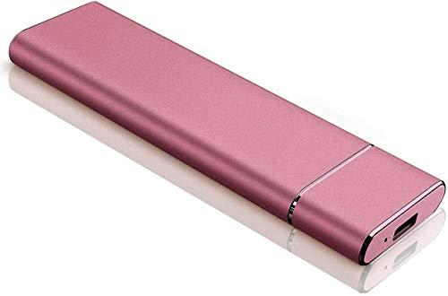 External Hard Drive Tipo C USB 2.0 portatile 2 TB Hard Drive esterno HDD compatibile con Mac Laptop e PC (Rosa Gold-A)