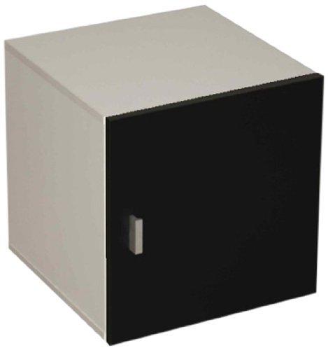 Phönix 118210SW deurcontainer Stor'It passend bij Caro planken, 34 x 34 x 34 cm, zwart