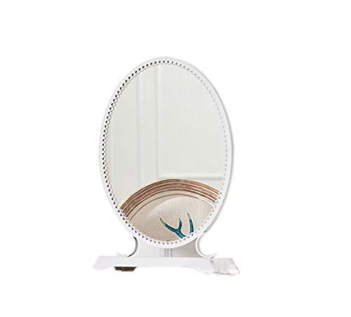 JINAN KaxJZ De Metal de Maquillaje Espejos, Dormitorio Oval de Belleza Chica Espejos Sitio del Dormitorio Amplio vestidor Espejos de Alta definición Tabla Espejos Espejos Plano Liso