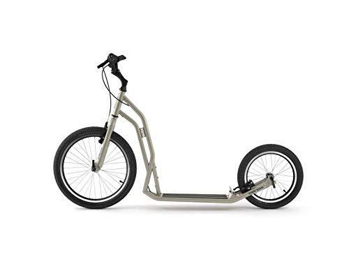 Yedoo S2016 Tretroller - bis 150 kg, Kickscooter mit Luftreifen 20/16 - für Erwachsene, Scooter Roller mit verstellbare Lenker, Dogscooter (silvergold)