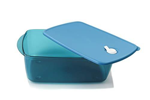 TUPPERWARE Microondas Micro Cook Vent N Serve Recipiente para microondas con válvula 3,5L turquesa 38330