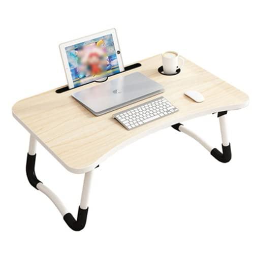 Mesa de Ordenador portátil para Cama y sofá, Soporte para Ordenador portátil, Soporte Vaso Mesa Plegable, portátil, Bandeja de Desayuno Mesa de Cama multifunción (Soporte-M)