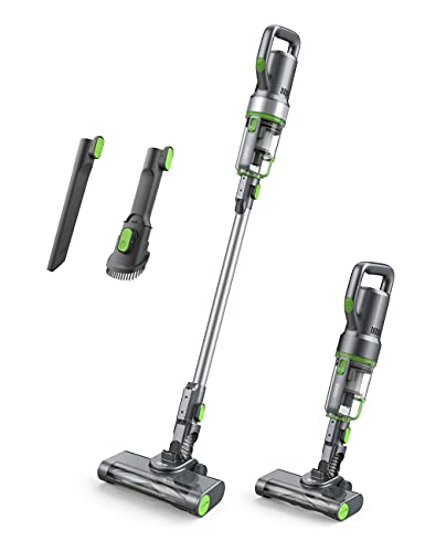 TOPPIN Cordless Vacuum Cleaner - Up to 40 Min Runtime, 4 in 1 Stick Handheld Vacuum Cleaner with Powerful Motor LED Headlights for Home Hard Floor Carpet Car Pet