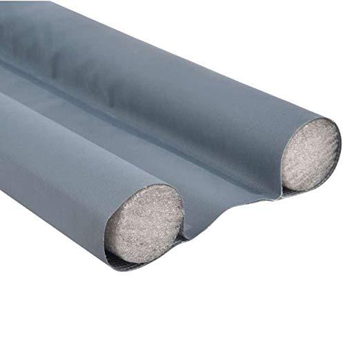Werkapro 11322 - Burlete de puerta doble antipolvo, protección insonorizada para ventana, se corta fácilmente, aislamiento del calor y el frío, tubos de espuma de 95 cm, color gris