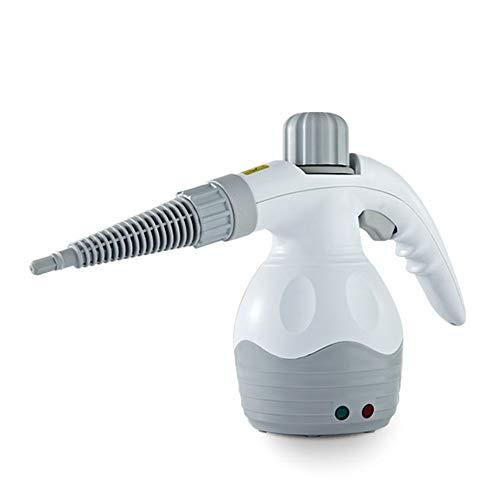 LLDKA Limpiador de Vapor de Mano, Limpiador de esterilización con Kit de Accesorios de 10 Piezas para máquina de Limpieza de Superficie múltiple, Cortinas, Asientos de automóviles