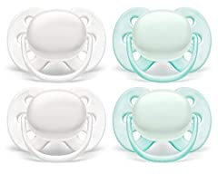 Flexifit shield for fewer skin marks and less skin irritation 98% nipple acceptance Comfortable soft silicone nipple Developed with healthcare professionals and moms! Comes with two sterilizer/ carrying cases; use them to sterilize the pacifiers with...