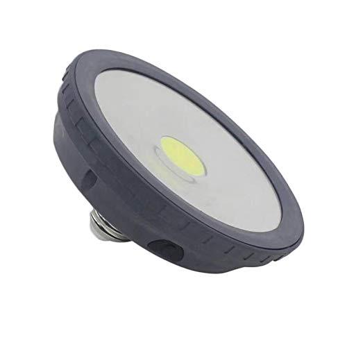 E27 10 W USB recargable con energía solar COB LED de emergencia, 3 modos de atenuación para exteriores (color: negro)