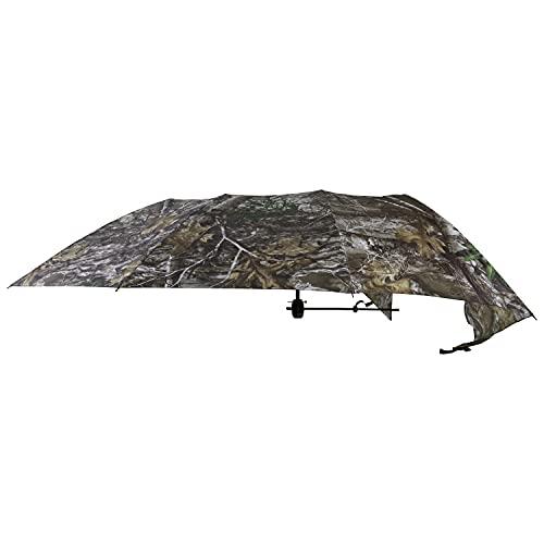 Allen Company Vanish Camo Hunting Treestand Umbrella, 57 inches Wide, Instant Roof, Hunting Cover, Realtree Edge Camo