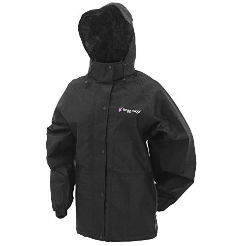 FROGG TOGGS Women's Classic Pro Action Waterproof Breathable Rain Jacket, Black, Large