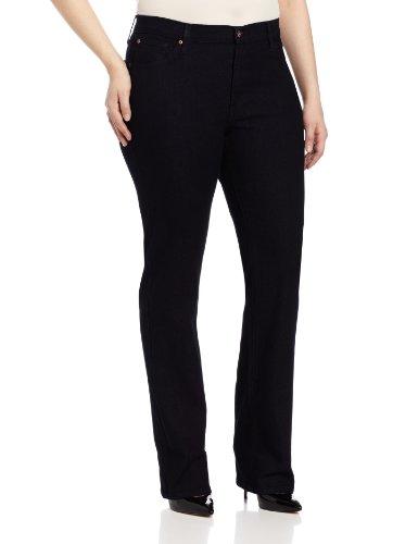 James Jeans Women's Plus Size Hunter Z Straight-Leg Jean, Seduction, 16w