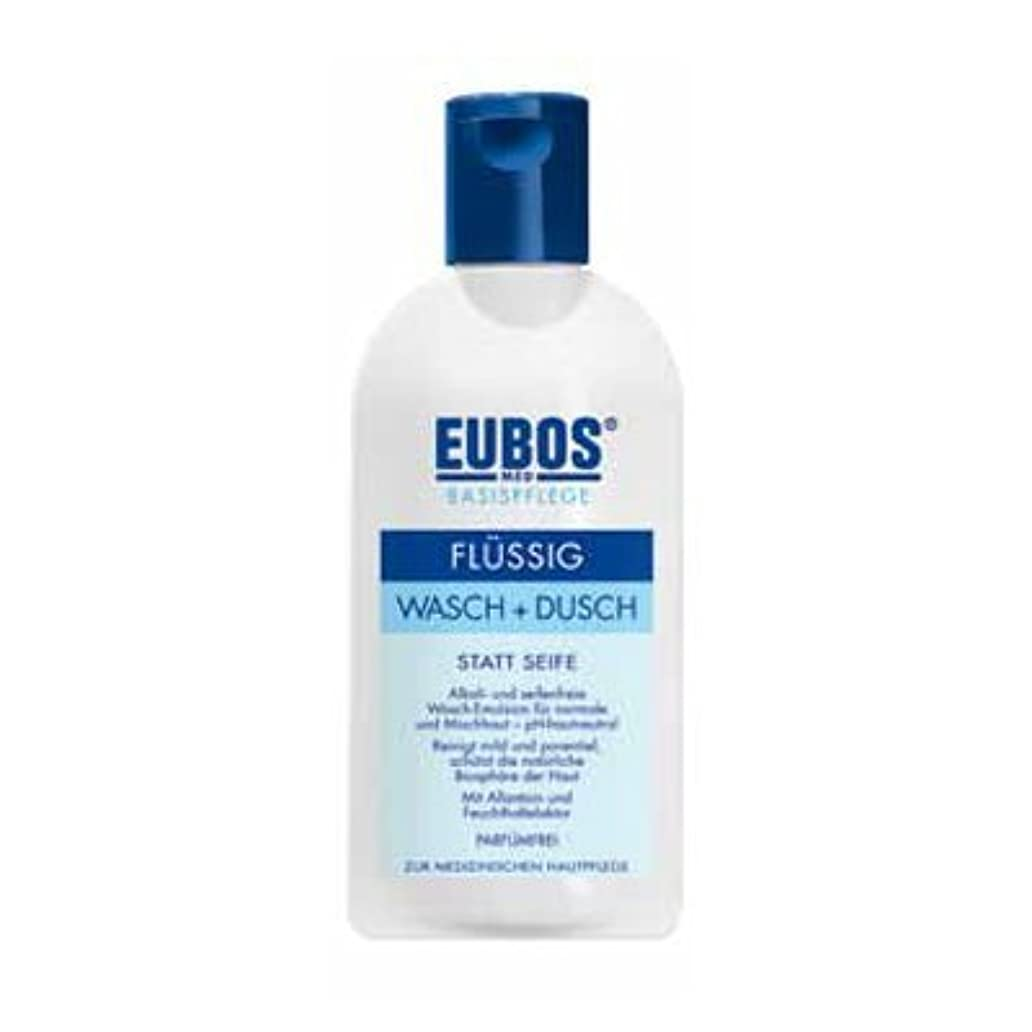 類推返還メンタリティユーボス(EUBOS) フェス&ボディシャワージェルブルー200ml/EUBOS Face&Body Shower Gel Blue 200ml(並行輸入品) [並行輸入品]