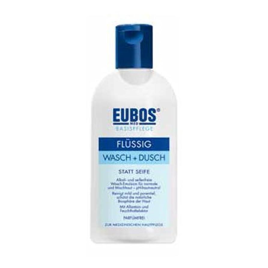 禁じる不実フォーラムユーボス(EUBOS) フェス&ボディシャワージェルブルー200ml/EUBOS Face&Body Shower Gel Blue 200ml(並行輸入品) [並行輸入品]