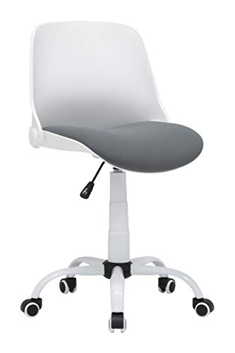 Calico Designs Back, Modern, Swivel, Office Contoured Folding Task Chair, White/Grey
