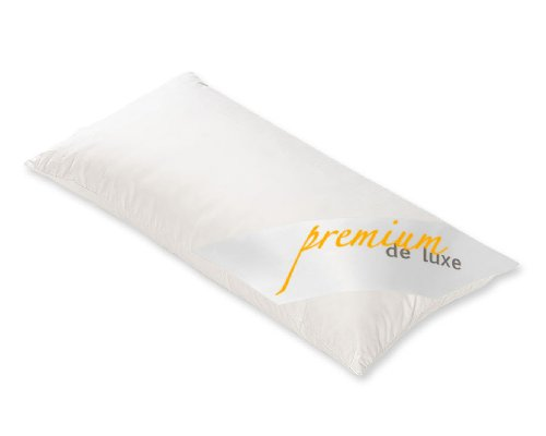HANSKRUCHEN 975.22.002 Premium de Luxe Daunenkissen Dreikammerkissen 40x80cm