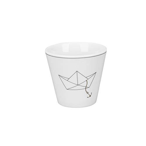 Krasilnikoff - Espressotasse - Papierboot - Porzellan - H6 x Ø6 cm - 90 ml