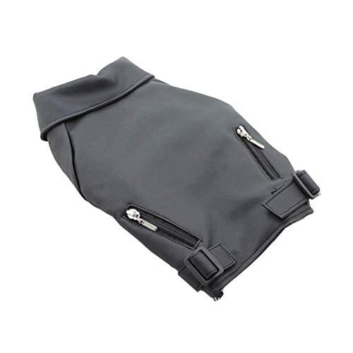 POPETPOP Hundekleidung Lederjacke Mantel Winter warm Hund pet Kleidung für kleine hundegröße XL (schwarz)