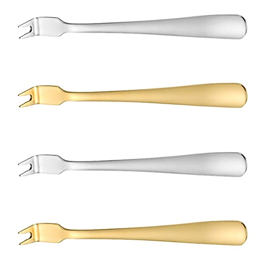 Hemoton 4 Piezas de Acero Inoxidable para Tallar Carne Tenedor de Metal para Pan para Ensalada Tenedores para Servir Carne Barbacoa para Barbacoa Asar a La Parrilla