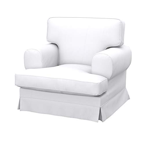 Soferia Bezug fur IKEA EKESKOG Sessel, Stoff Eco Leather White
