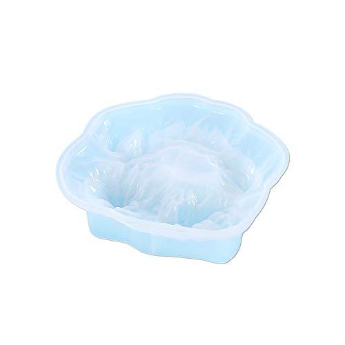 Ice Mountain - Moldes de silicona para cenicero, 1 unidad de molde de silicona único, moldes de silicona para manualidades, decoración para el hogar y la oficina