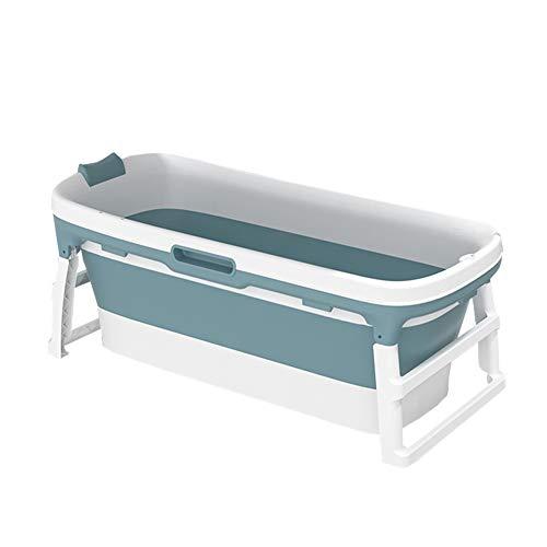 Bañera Plegable for Adultos, Bañera Portátil Plastico Empapa El Baño De SPA En Casa Antideslizante Aislamiento (Color : A)