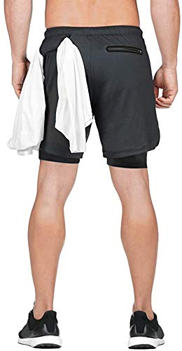 L'ASHER Mens 2-in-1 Running Sports Shorts with Phone Pocket 7