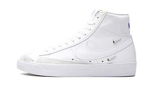 Nike Zapatos Mujer Blazer Mid 77 LX, (Blanco/Hyper Royal-Negro), 38.5 EU