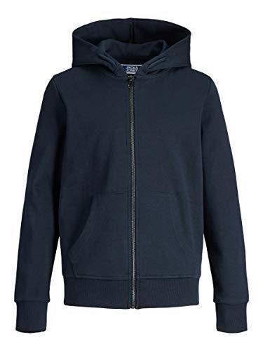 JACK & JONES Jungen Jjebasic Zip Hood Noos Jr Cardigan Sweater, Navy Blazer, 176 EU