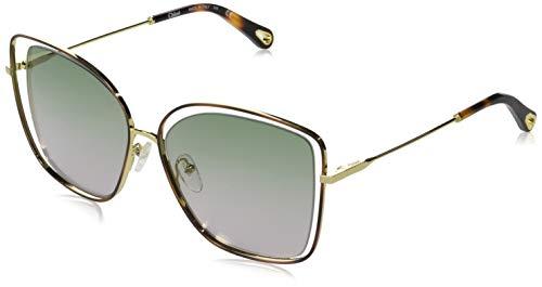 Chloé CE133S(240)-6015 Sun occhialis, Tamaño de montura: 60mm, Tamaño del puente: 15mm, Havana/Green Rose