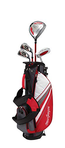 MACGREGOR Jungen DCT3000 Junior Kids Childrens Package Set with Golf Club Carry Bag Golfschläger, rot/weiß, Boys Right Hand 6-8 Years