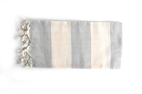 Bonamaison 100% algodón Toalla hammam Fina turca, Pesthemal, Toallas de baño, Toallas de Playa, 83 X 170 Cm - Fabricado en Turquía