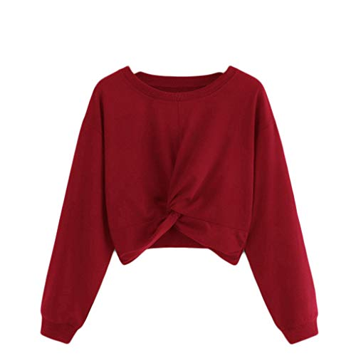 Damen Pullover mit Kapuze, Weant Damen Hoodies Frauen Herbst/Winter Langarm Hoodie Sweatshirt Jumper mit Kapuze Pullover Stilvolle Kleidung Elegante Bluse S~XXL