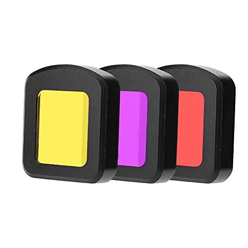 Corrección de Color de Filtro Ultravioleta Ligero Y Duradero bajo el Agua entre 3 Metros Y 20 para Sistema de Agua Tropical Y Azul para Cámara Deportiva Sjcam Sj8 Air / Pro / Plus(Kit de tres colores)