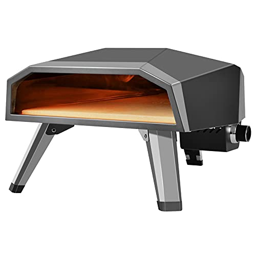 Fineshine Gas Pizza Oven, Pizza Maker, Portable Outdoor Pizza Oven,Gas Pizza Grilling Stove with 12' Pizza Stone & Foldable Pizza Peel and Some Accessories,Indoor and Outdoor Use