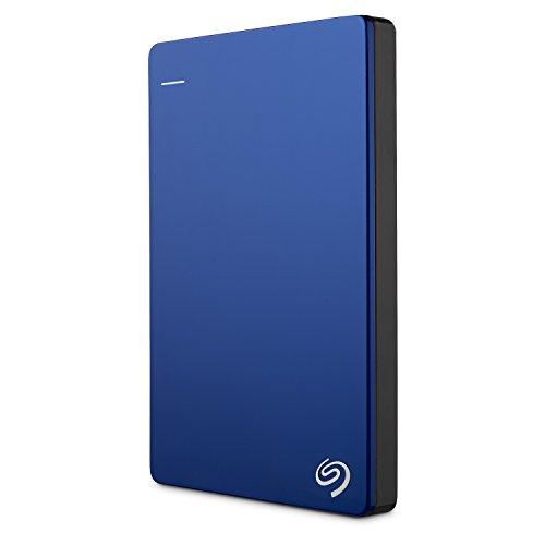 Seagate Backup Plus Slim, tragbare externe Festplatte 2 TB, 2.5 Zoll, USB 3.0, PC & Mac, blau, inkl. 2 Jahre Rescue Service, Modellnr.: STDR2000202