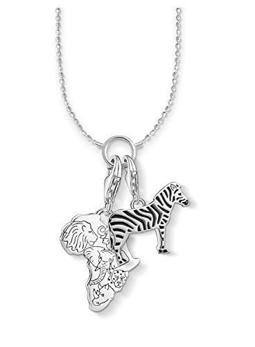 Naswi Charm Halskette Zebra & Afrikanisch, Wintermode Filigraner Schmuck Thomas 925 Sterling Silber Ethnisches Glückliches Geschenk Für Frauen Männer