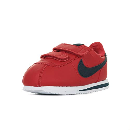 Nike Cortez Basic SL (TDV), Scarpe da Atletica Leggera Bambino, Multicolore (University Red/Obsidian/White 600), 25 EU