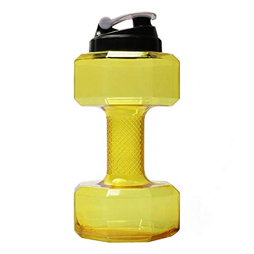 YingQ Pesas 2.6 L Mancuernas Botella De Agua Grande Deportes Gratuitos Correr Fitness Hervidor De Agua Gimnasio Mancuernas De Inyección De Agua Gimnasio Gran Capacidad Plástico 2 Piezas