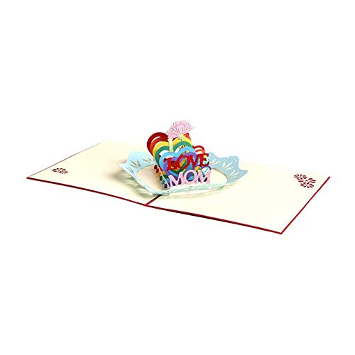 Honrik 3D Pop Up Greeting Card, Handmade Mother's Day Birthday Card Card with Matching Envelope for Wife Girlfriend Mother Bride Congratulations for Someone Special Unique Love Cards