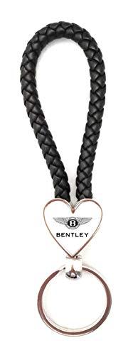 Schlüsselanhänger Heart Dynamic Kunstleder geflochten/Metall – Bentley (2 Seite)