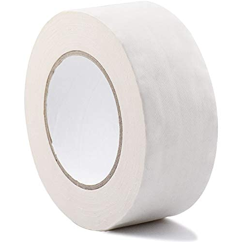 Gaffer Tape - 2 Inch x 30 Yards Matte White Gaff Cloth Tape, Heavy Duty Non-Reflective Waterproof Gaffers Tape for Stage, Photographers (White)