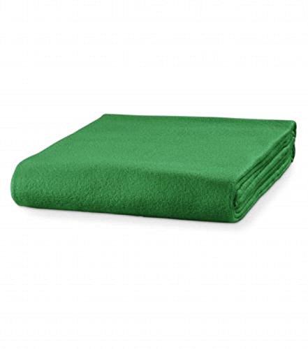 Malfini Fleecedecke Kuscheldecke Tagesdecke viele Farben Decke mit Anti-Pilling (grasgrün)
