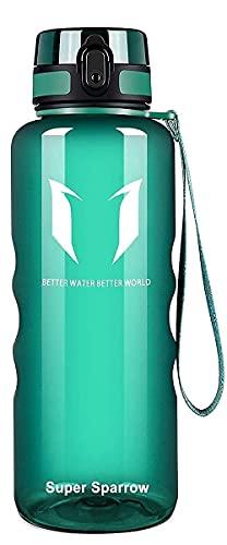Super Sparrow Trinkflasche - 1.5L - Wasserflasche Auslaufsicher -Sportflasche BPA-Frei   Schule, Sport, Wasser, Fahrrad